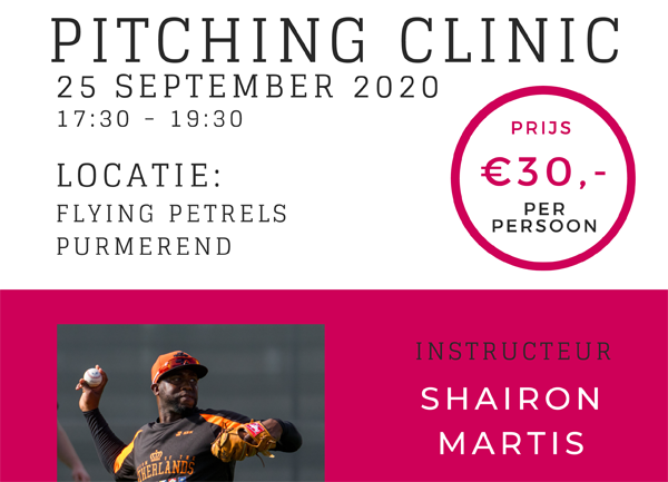 Pitching clinic banner